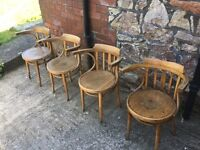 Vintage Polish Bentwood Dining Chairs - set of four