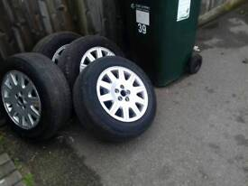 5 nice rover 15in alloys & tyres