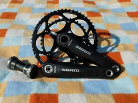 SRAM carbon road chainset complete with BB 175mm 53/39