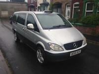 2006 55reg Mercedes Vito 2.2 109 Cdifactory Taxi Mini Bus 9 Seater Silver