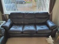 Harveys 2 and 3 Seater Faux Leather Sofas with Ottoman Foot Stool