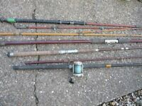 Some old fishing rods out of my dads shed.