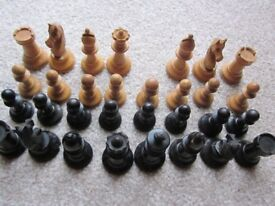 Vintage Wooden Chess Set - Needs TLC!