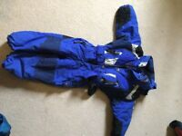 'Couleur' blue all in one ski suit 2-3yrs approx