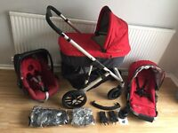 **UPPABABY VISTA FULL System**CARRYCOT**MAXI COSI PEBBLE CAR SEAT**CUPHOLDER**VGC