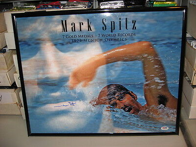 Mark Spitz 1972 Munich Olymics 7 Golds Hand Signed 16x20 Photo in frame PSA/DNA