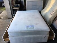"""Myers 4ft 6"""" memory topper storage divan set (FREE DELIVERY)"""