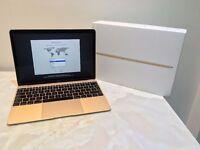 "Apple MacBook 12"" Retina Gold Early-2016 7 Months Apple Warranty MLHE2B/A"