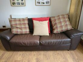 IKEA brown leather sofa. £10 BARGAIN