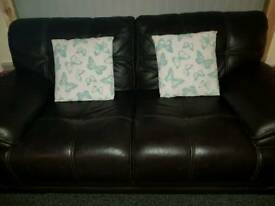 3 + 2 Sofa Brown with stitching