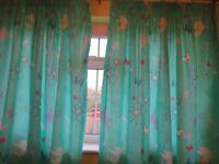 Tinkerbell green curtains - Pair of Curtain Tiebacks
