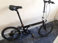"dahon speed folding bike 7 speed wheels 20"" ready to cycle"