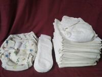 Washable towelling nappy bundle