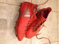 red Adidas Football boots size 7.5