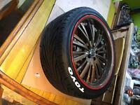 """Alloy wheels vw/audi 18"""" 5x100 offset deep dish splits"""