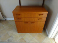 Cupboard with two drawers - teak or similar
