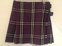 Burberry House Check Plaid Skirt
