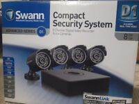 4 camera Swann cctv unit with monitor