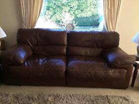 3+2 100% leather sofas