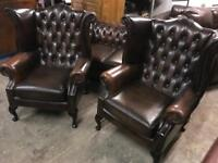 Stunning as new Chesterfield 3 11 sofa set