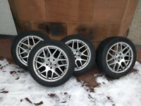 Full Set Winter Tyres Alloys 245 45 r18 100v to fit BMW 640d type f06