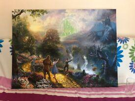 Large Canvas Print - Wizard of Oz (by Thomas Kinkade)