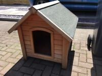 Small wooden dog kennel - very good condition