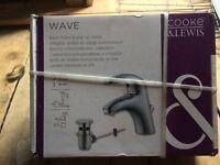 wave basin mixer & pop up waste