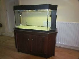 Juwel System Aquarium with additional under gravel filter and cabinet