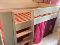 White children's cabin bed