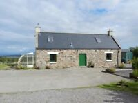 Unfurnished house to rent overlooking Findorn bay stunning views.