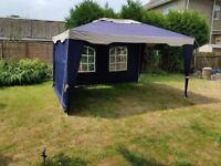quality marquee 3 x 4 meters. 1 side wall, 1 rear wall.
