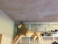 Large toy lion