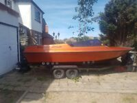 Fletcher Speed Boat 17 foot, Trailer included