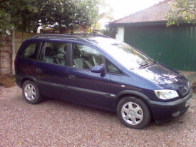 Vauxall/Opel Zafira Elegance 2001 Up to 7 people MPV, 69894ml, one owner since new, MOT till Mar2018