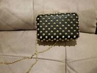 Forever 21 Studded clutch/sling bag