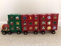 Train style advent calendar