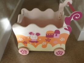 girls painted toy box