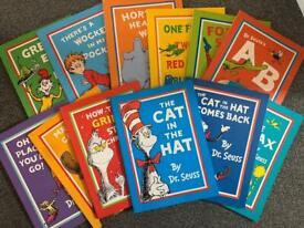 Set of 12 dr Seuss books.