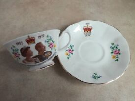 Silver Jubilee cup and saucer