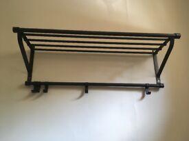 IKEA Coat rack and shoe storage in dark grey / black