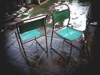 Retro vintage metal chairs