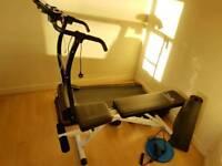 Gym set : 35 kg dumbells set + prestige running machine+ weight bench