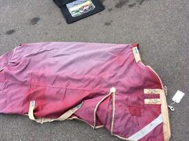 Horse outdoor rug & detachable hood premier equine 200 gram 6ft6
