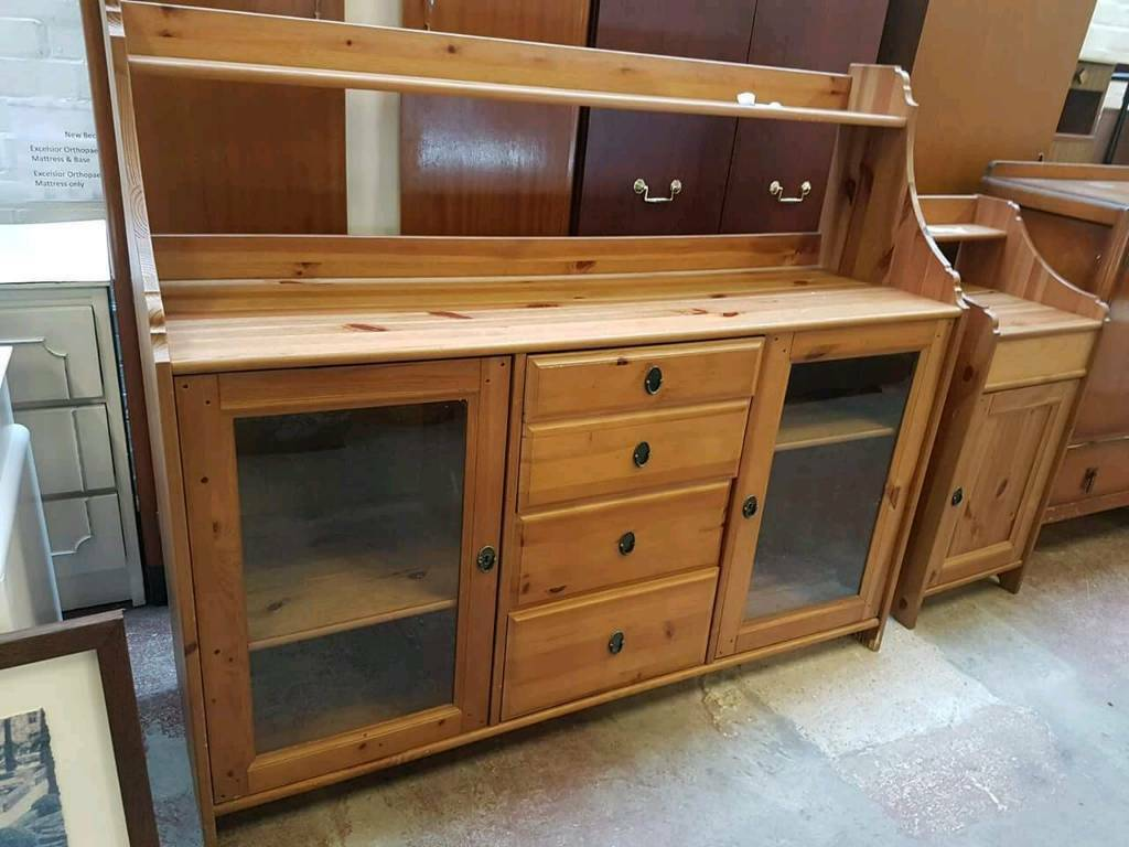 Large pine 4 drawer unit