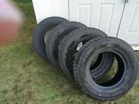 Winter studded tires Minerva 265/70R17 - Almost NEW! - $800