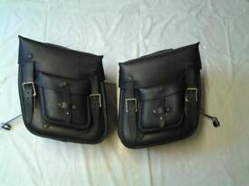 kawasaki leather panniers @ chrome carriers