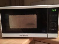 Morphy Richards Touch Microwave White in Good Working Condition