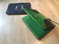 ALIENWARE M9700 GREEN AND BLACK 17.3 INCH LAPTOP, SSD + FREE ALIENWARE SLEEVES!!