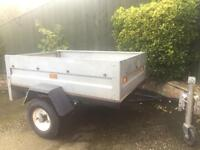 Wilstow Galvanised 5ft x 3ft trailer + cover/jockey wheel